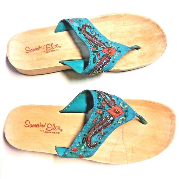 d04c948b3996 Skechers Somethin Else FlipFlop Wedge Sandals. M 5b2a5e51d6dc5236335933e7